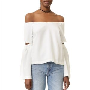 NEVER WORN re:named Off the Shoulder Cut Out Top